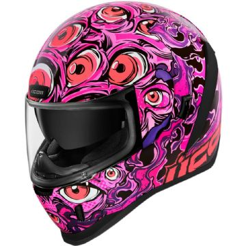 Icon Airform Illuminatus Pink Glow In The Dark Motorcycle Motorbike Helmet
